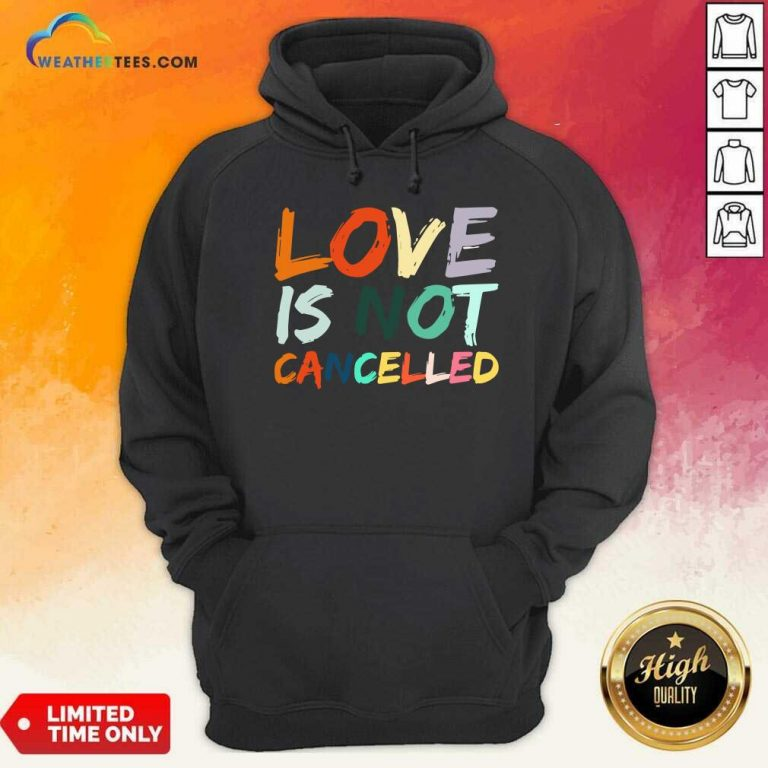 Love Is Not Cancelled Hoodie - Design By Weathertees.com