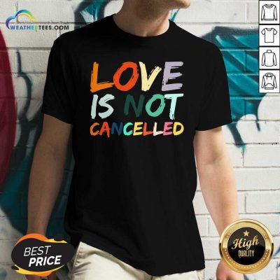 Love Is Not Cancelled V-neck - Design By Weathertees.com