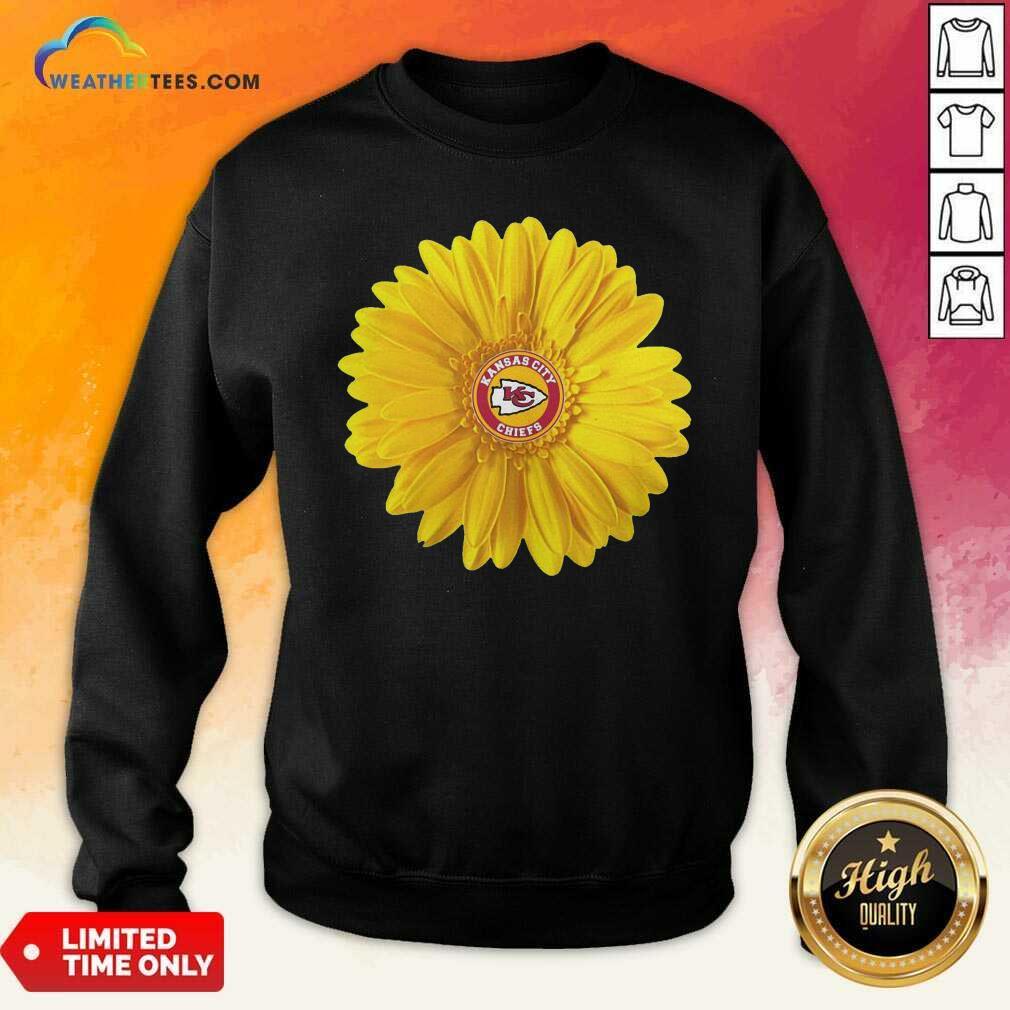 Kansas City Chiefs Sunflower Sweatshirt - Design By Weathertees.com