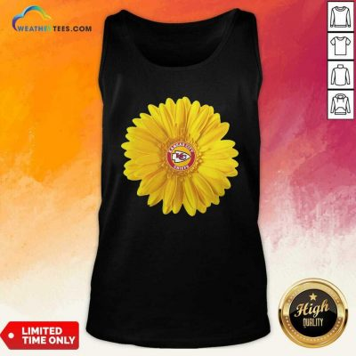 Kansas City Chiefs Sunflower Tank Top - Design By Weathertees.com