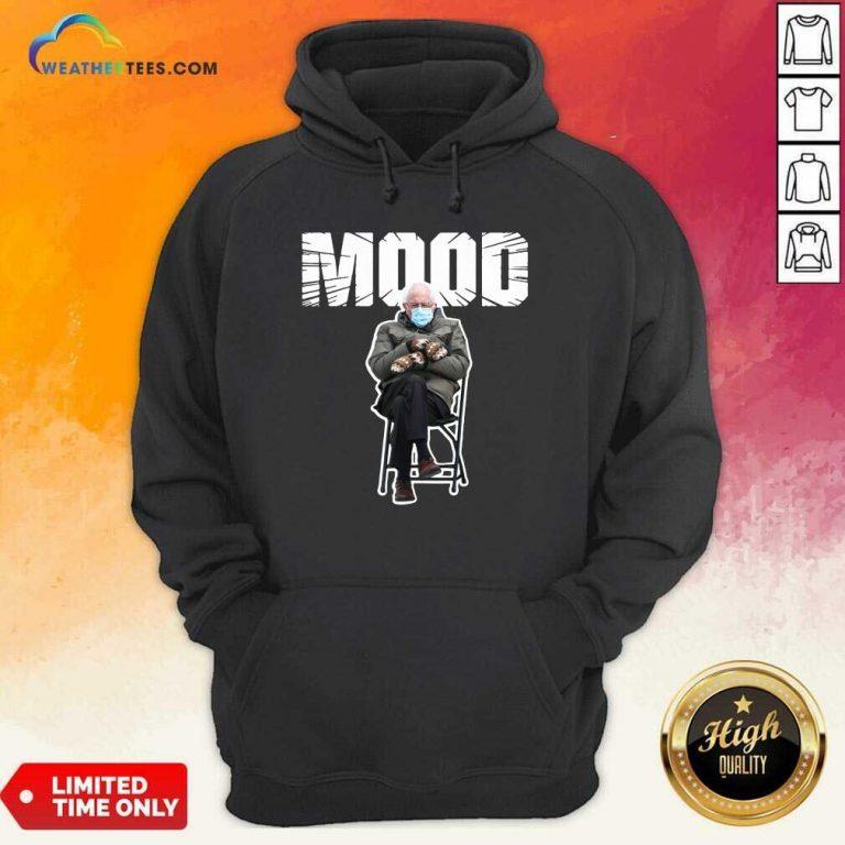 Bernie Sanders Gloves Mittens Bad Mood 2021 Hoodie - Design By Weathertees.com