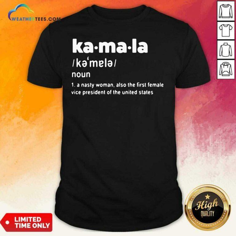 Kamala Harris First Female Vice President Of The United States Shirt - Design By Weathertees.com