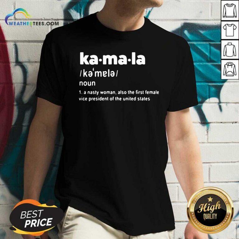 Kamala Harris First Female Vice President Of The United States V-neck - Design By Weathertees.com