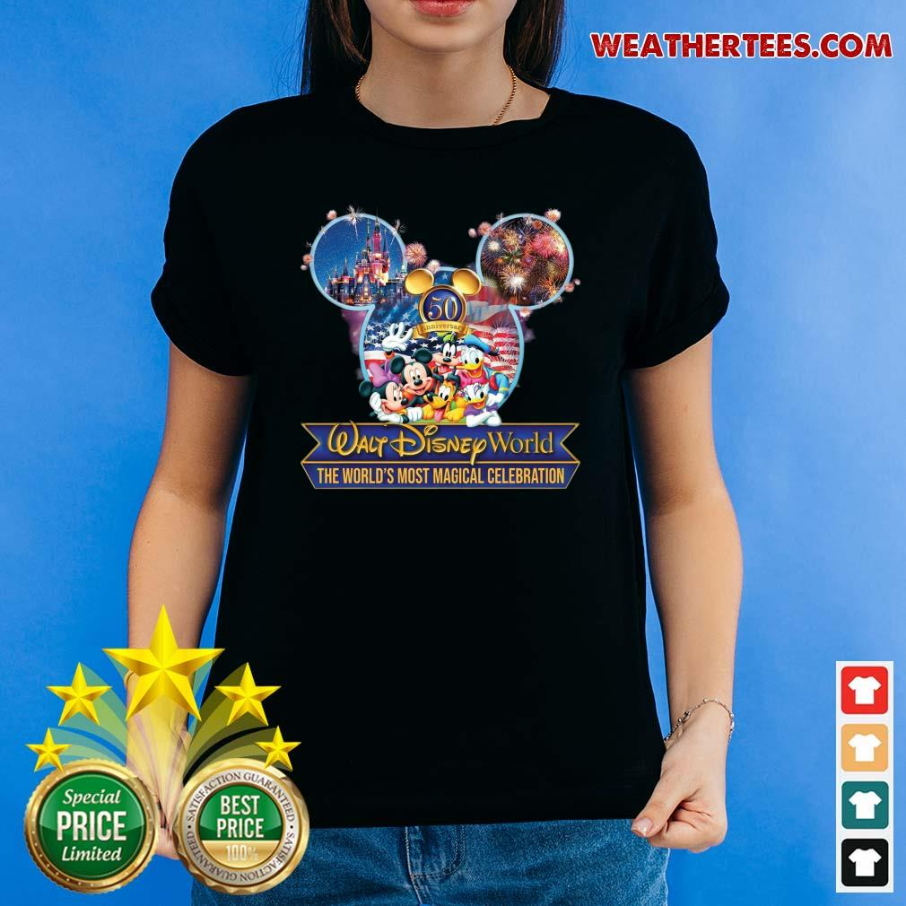 Mickey Mouse Walt Disney World The World's Most Magical Celebration Ladies-tee - Design By Weathertees.com