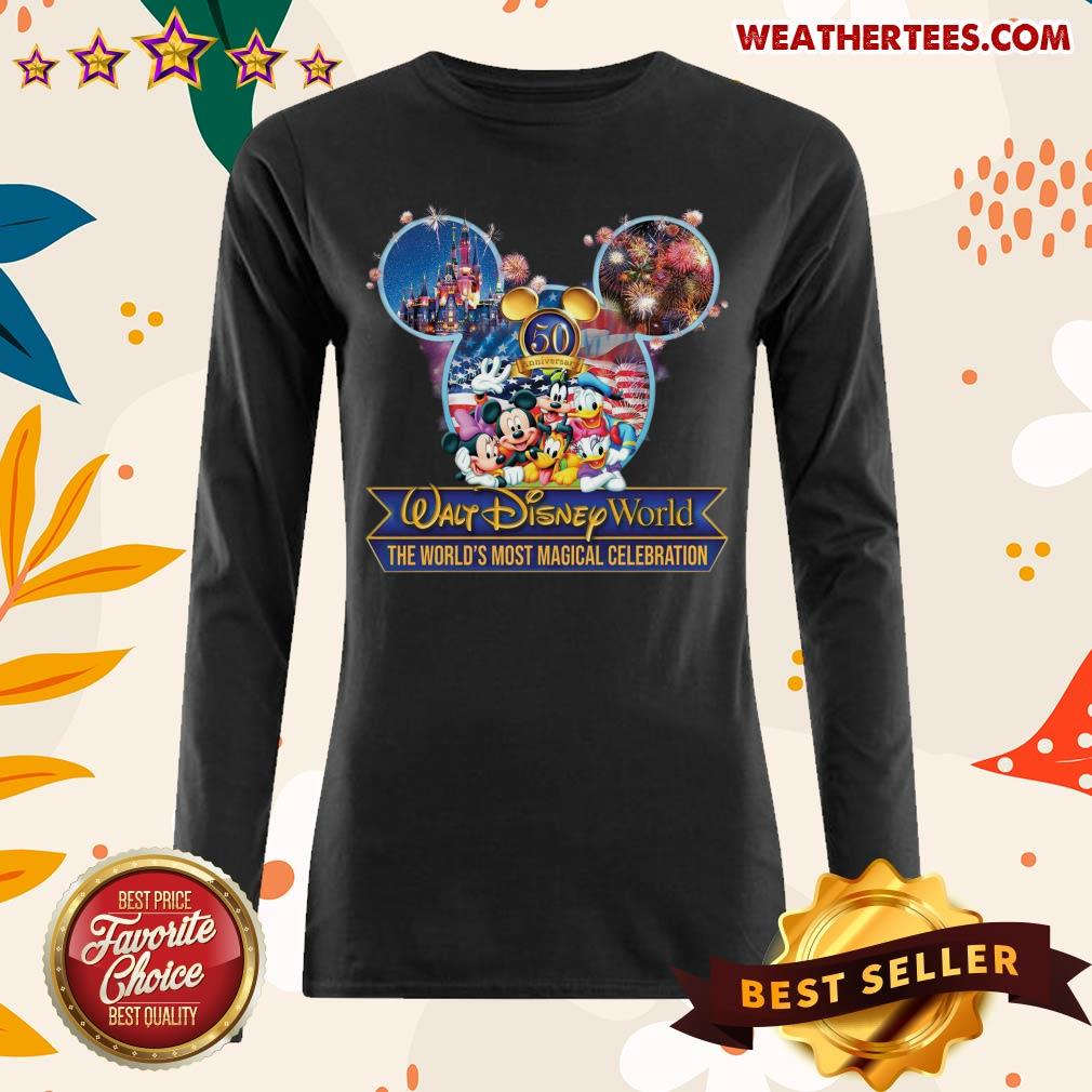 Mickey Mouse Walt Disney World The World's Most Magical Celebration Long-sleeved - Design By Weathertees.com