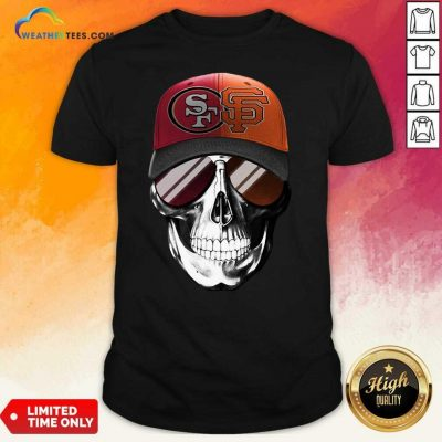 San Francisco 49ers And Los Angeles Lakers Skull Sunglass Shirt - Design By Weathertees.com
