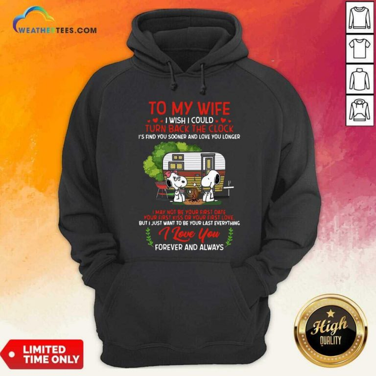 Snoopy And Girlfriend To My Wife Turn Back The Clock I Love You Valentines Day Hoodie - Design By Weathertees.com