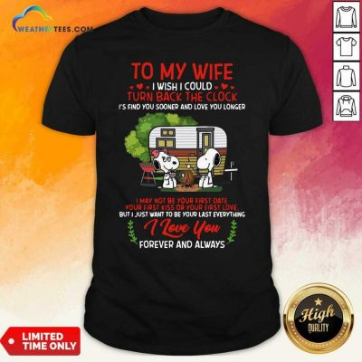Snoopy And Girlfriend To My Wife Turn Back The Clock I Love You Valentines Day Shirt - Design By Weathertees.com