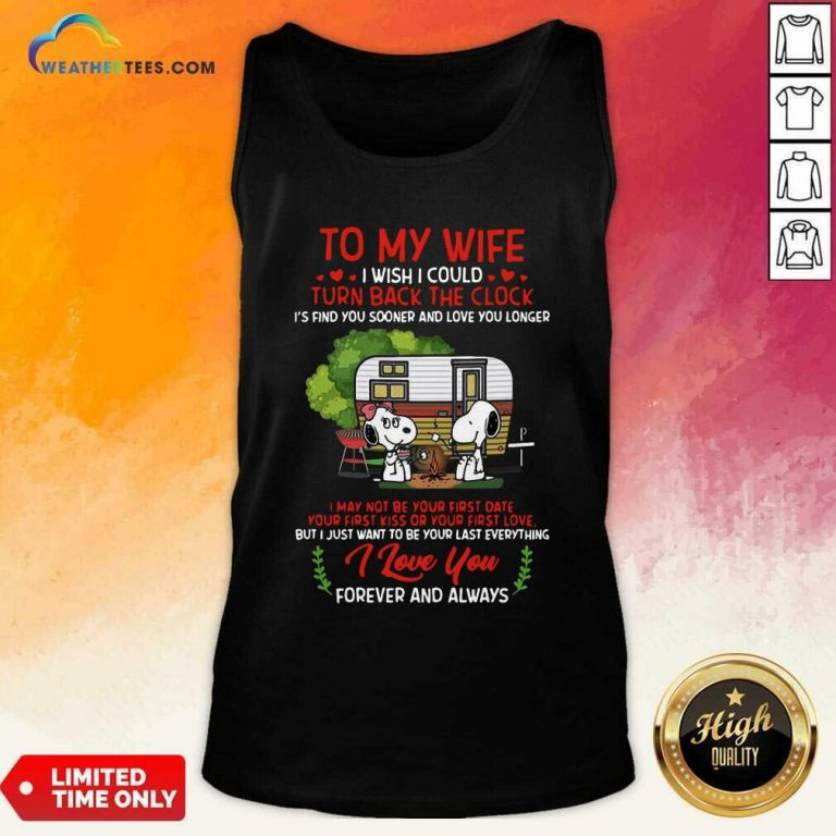 Snoopy And Girlfriend To My Wife Turn Back The Clock I Love You Valentines Day Tank Top - Design By Weathertees.com