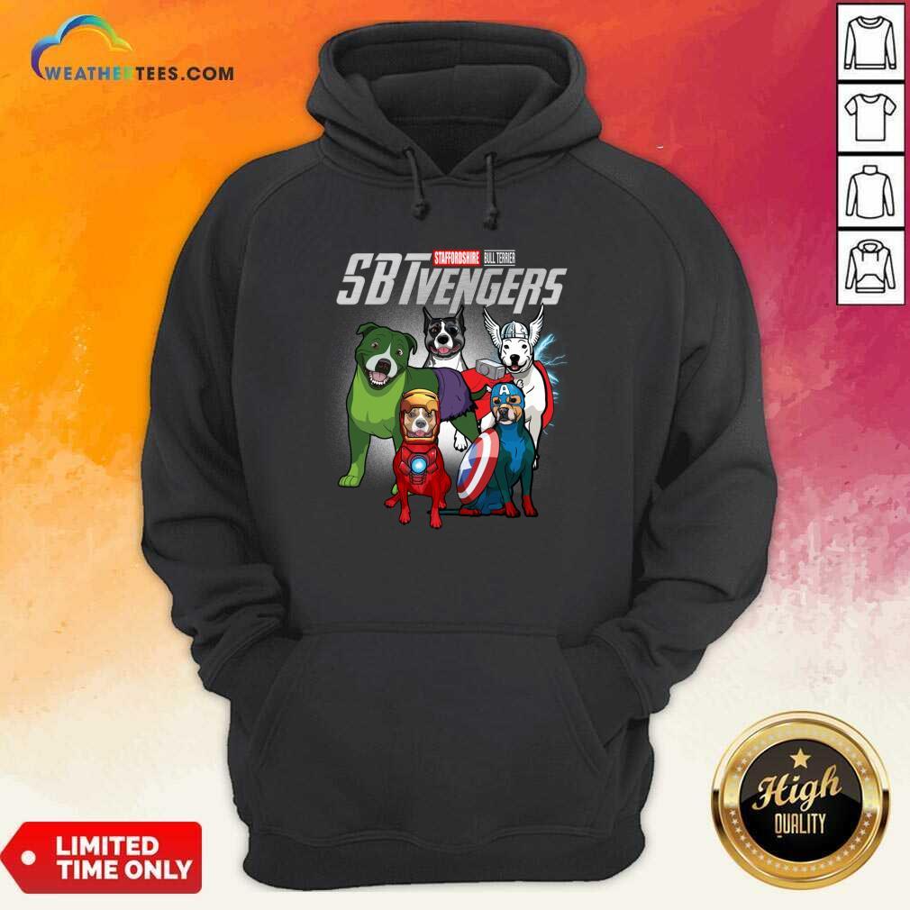 Staffordshire Bull Terrier Marvel Avengers Sbtvengers Hoodie - Design By Weathertees.com