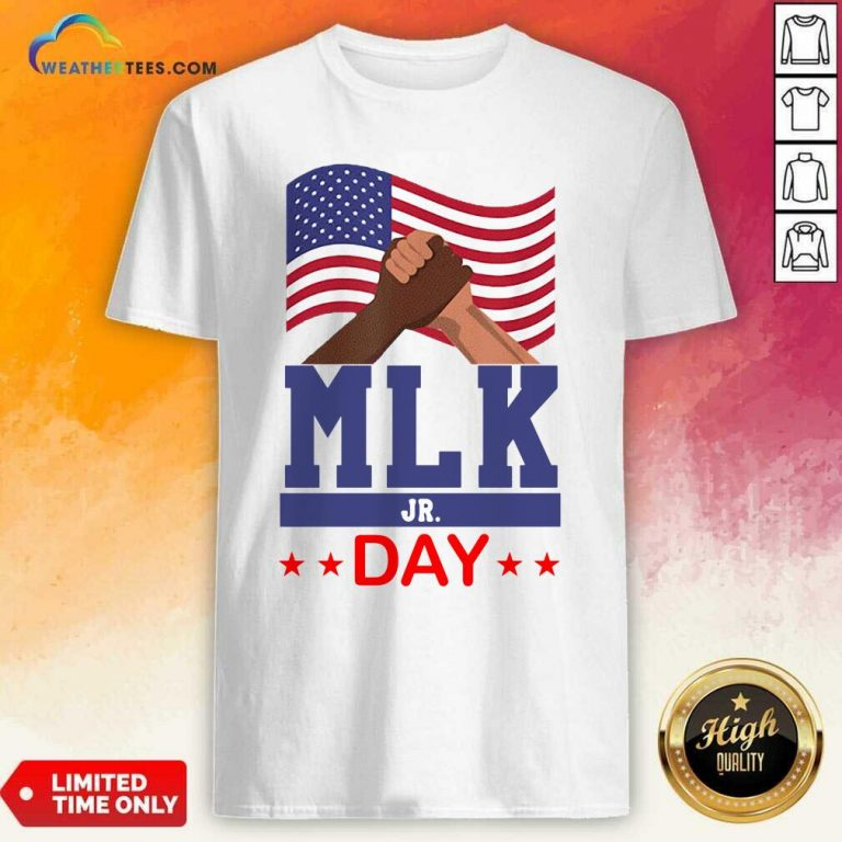 American Flag Martin Luther King Jr Day MLK Fist Freedom Shirt - Design By Weathertees.com