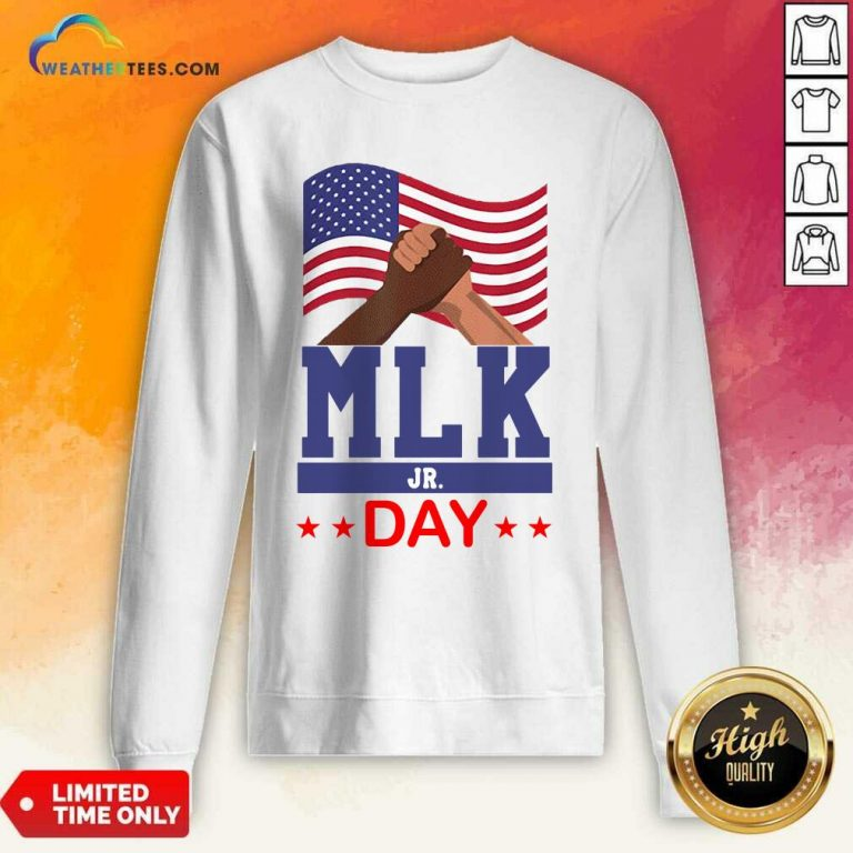 American Flag Martin Luther King Jr Day MLK Fist Freedom Sweatshirt - Design By Weathertees.com