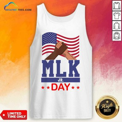 American Flag Martin Luther King Jr Day MLK Fist Freedom Tank Top - Design By Weathertees.com