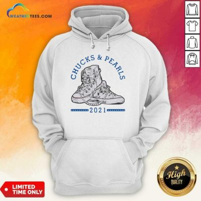 Chucks And Pearls Shirt Matching Mom Daughter Hoodie - Design By Weathertees.com