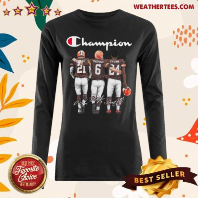 Cleveland Browns Ward Mayfield And Chubb Champion Long-sleeved - Design By Weathertees.com