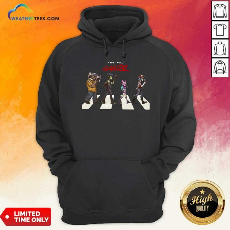 Gorillaz Abbey Road Hoodie - Design By Weathertees.com