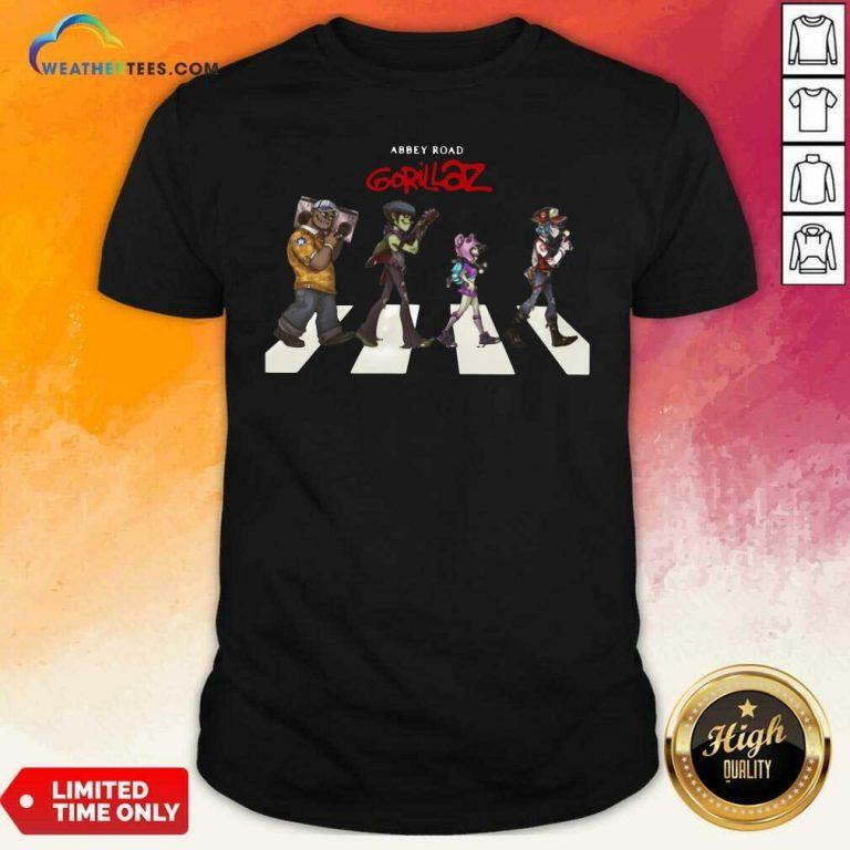 Gorillaz Abbey Road Shirt - Design By Weathertees.com