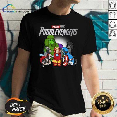 Poodle Marvel Avengers Poodlevengers V-neck - Design By Weathertees.com