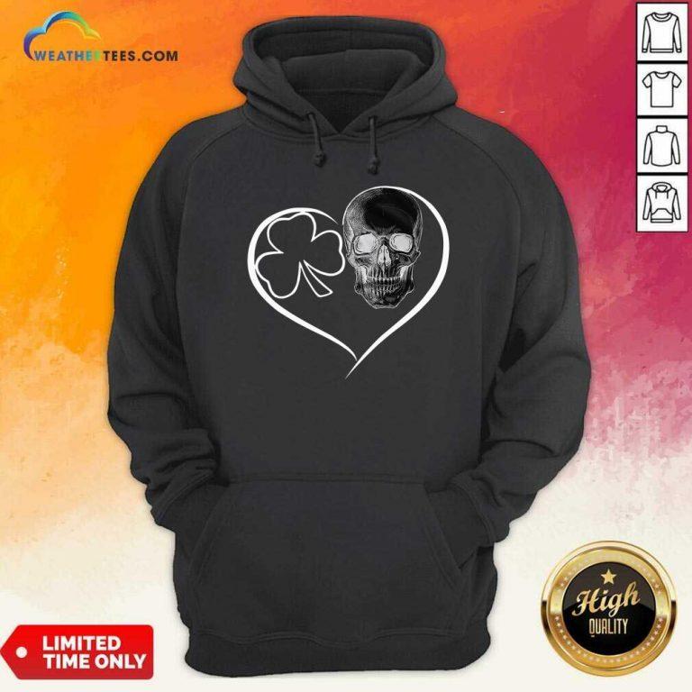Skull Heart St Patricks Day Hoodie - Design By Weathertees.com