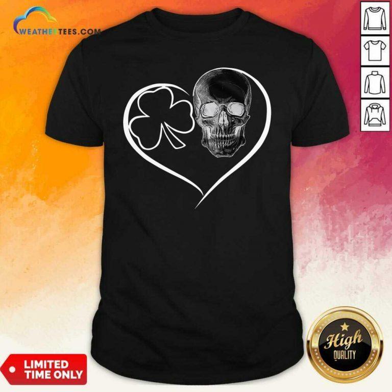 Skull Heart St Patricks Day Shirt - Design By Weathertees.com