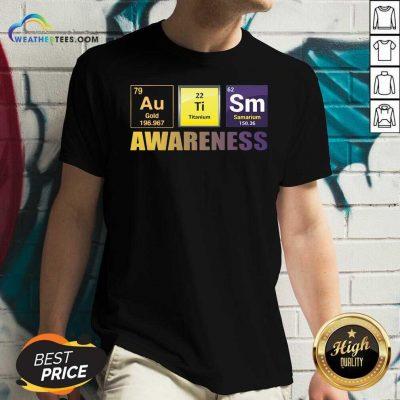 Autism Awareness Elements Gift V-neck - Design By Weathertees.com