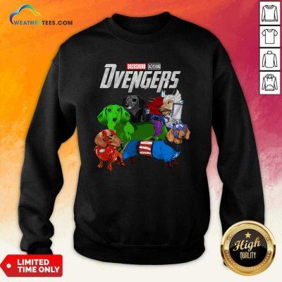 Avengers Dachshund Dvengers Sweatshirt - Design By Weathertees.com