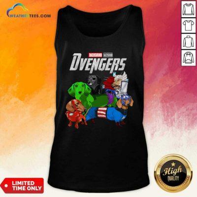 Avengers Dachshund Dvengers Tank Top - Design By Weathertees.com