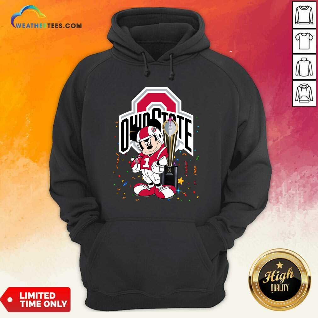 Mickey Mouse Ohio State Buckeyes Hoodie - Design By Weathertees.com