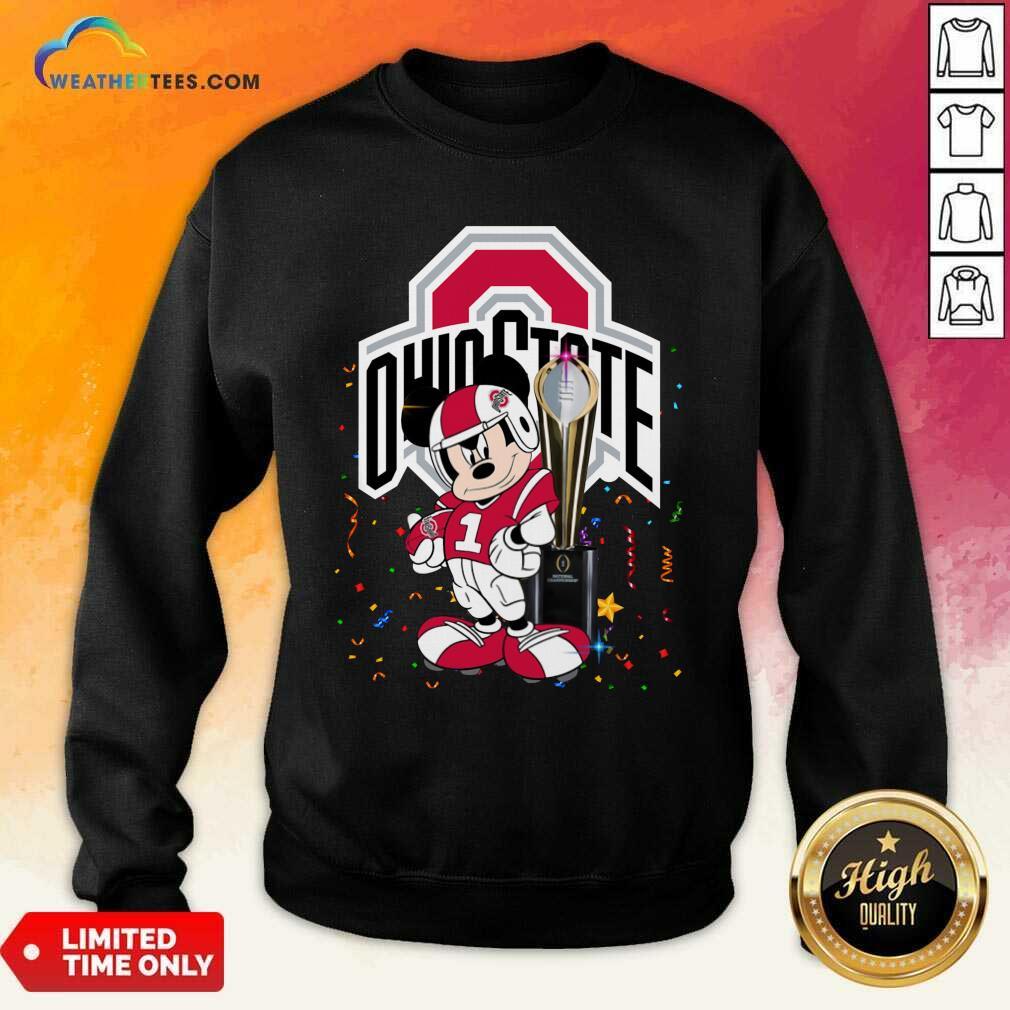Mickey Mouse Ohio State Buckeyes Sweatshirt - Design By Weathertees.com