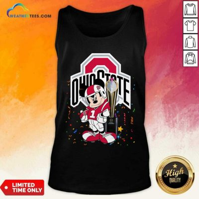 Mickey Mouse Ohio State Buckeyes Tank Top - Design By Weathertees.com
