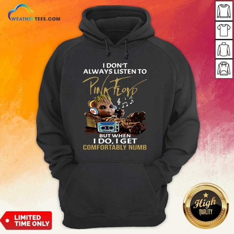 I Do not Always Listen To Pink Floyd But When I Do I Get Comfortably Numb Groot Hoodie - Design By Weathertees.com