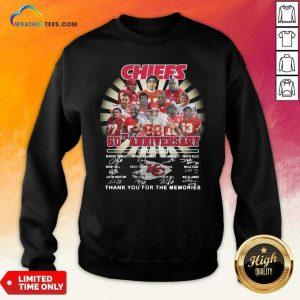 Kansas City Chiefs 60th Anniversary 1960 2020 Signatures Sweatshirt - Design By Weathertees.com
