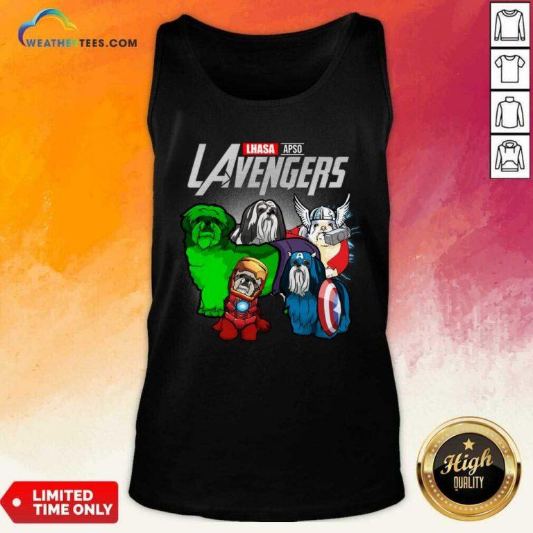Lhasa Apso Marvel Avengers LAvengers Tank Top - Design By Weathertees.com