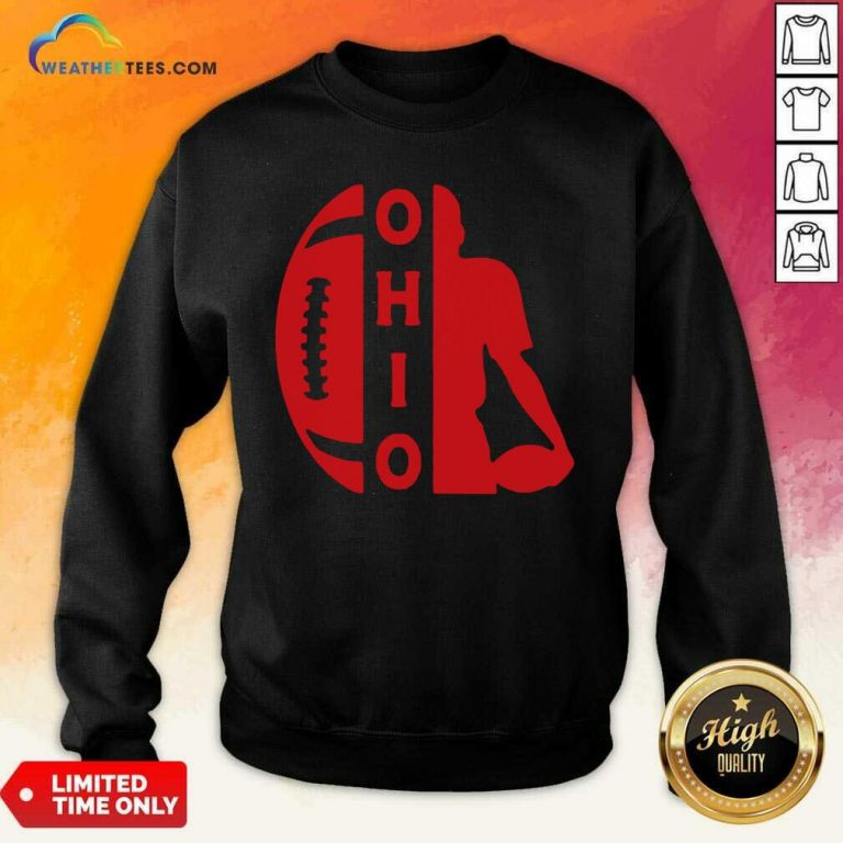 Ohio OH State Football Vintage Athletic Style Sweatshirt - Design By Weathertees.com