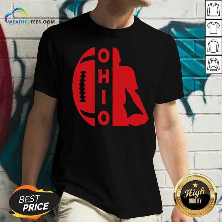 Ohio OH State Football Vintage Athletic Style V-neck - Design By Weathertees.com