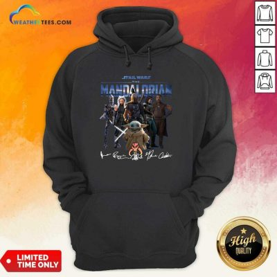 Star Wars The Mandalorian And Baby Yoda Signatures Hoodie - Design By Weathertees.com