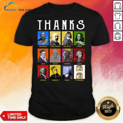 Thank Archimedes Fermat Lagrange Newton Pythagoras Shirt - Design By Weathertees.com