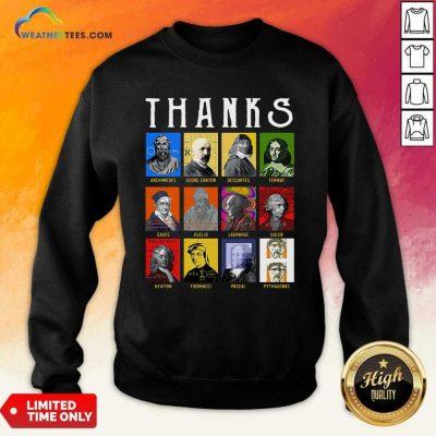 Thank Archimedes Fermat Lagrange Newton Pythagoras Sweatshirt - Design By Weathertees.com