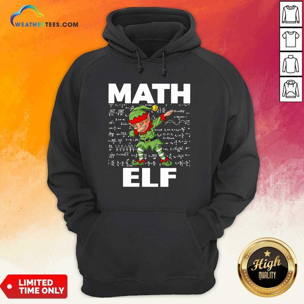 The Math Elf Dabbing 2021 Hoodie - Design By Weathertees.com