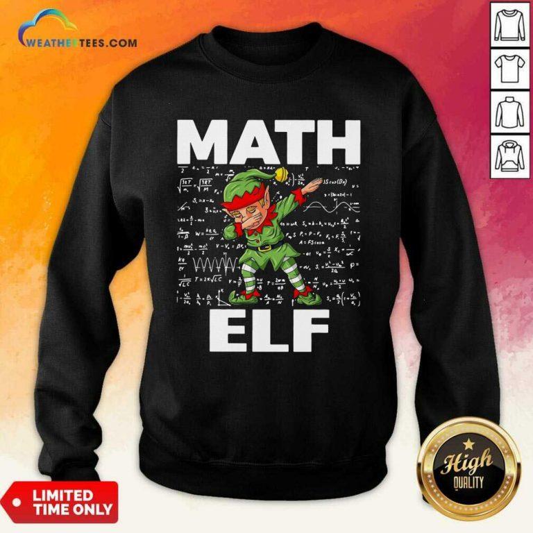 The Math Elf Dabbing 2021 Sweatshirt - Design By Weathertees.com