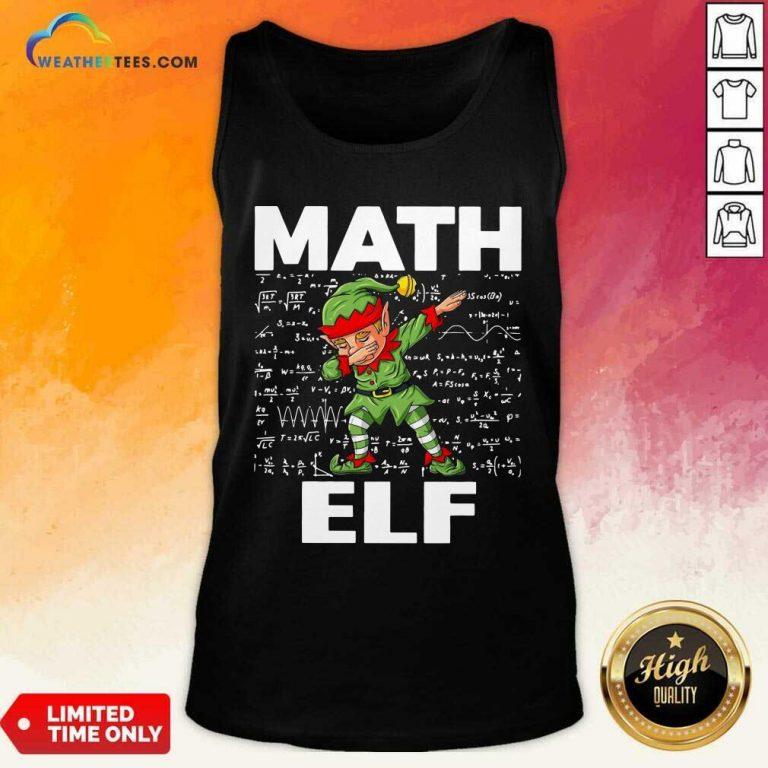 The Math Elf Dabbing 2021 Tank Top - Design By Weathertees.com