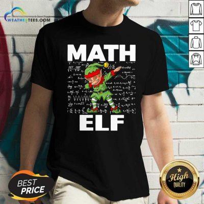 The Math Elf Dabbing 2021 V-neck - Design By Weathertees.com