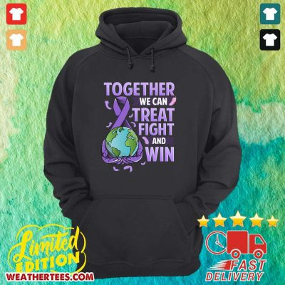 Together We Can Treat Fight And Win World Cancer Day Cancer Awareness Fight Against Cancer Hoodie - Design By Weathertees.com