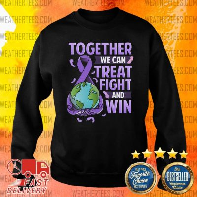 Together We Can Treat Fight And Win World Cancer Day Cancer Awareness Fight Against Cancer Sweater - Design By Weathertees.com