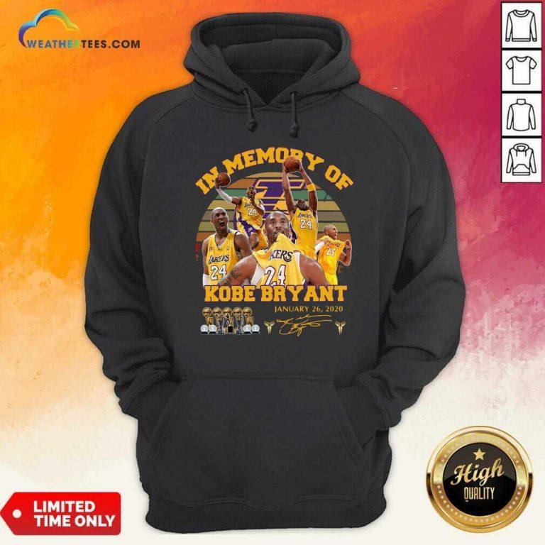 In Memory Of Kobe Bryant January 26 2020 Vintage Hoodie - Design By Weathertees.com