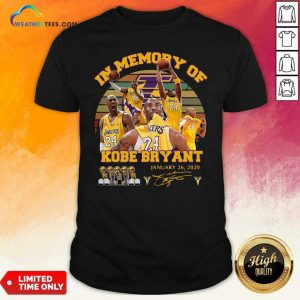 In Memory Of Kobe Bryant January 26 2020 Vintage Shirt - Design By Weathertees.com