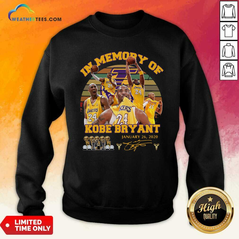 In Memory Of Kobe Bryant January 26 2020 Vintage Sweatshirt - Design By Weathertees.com
