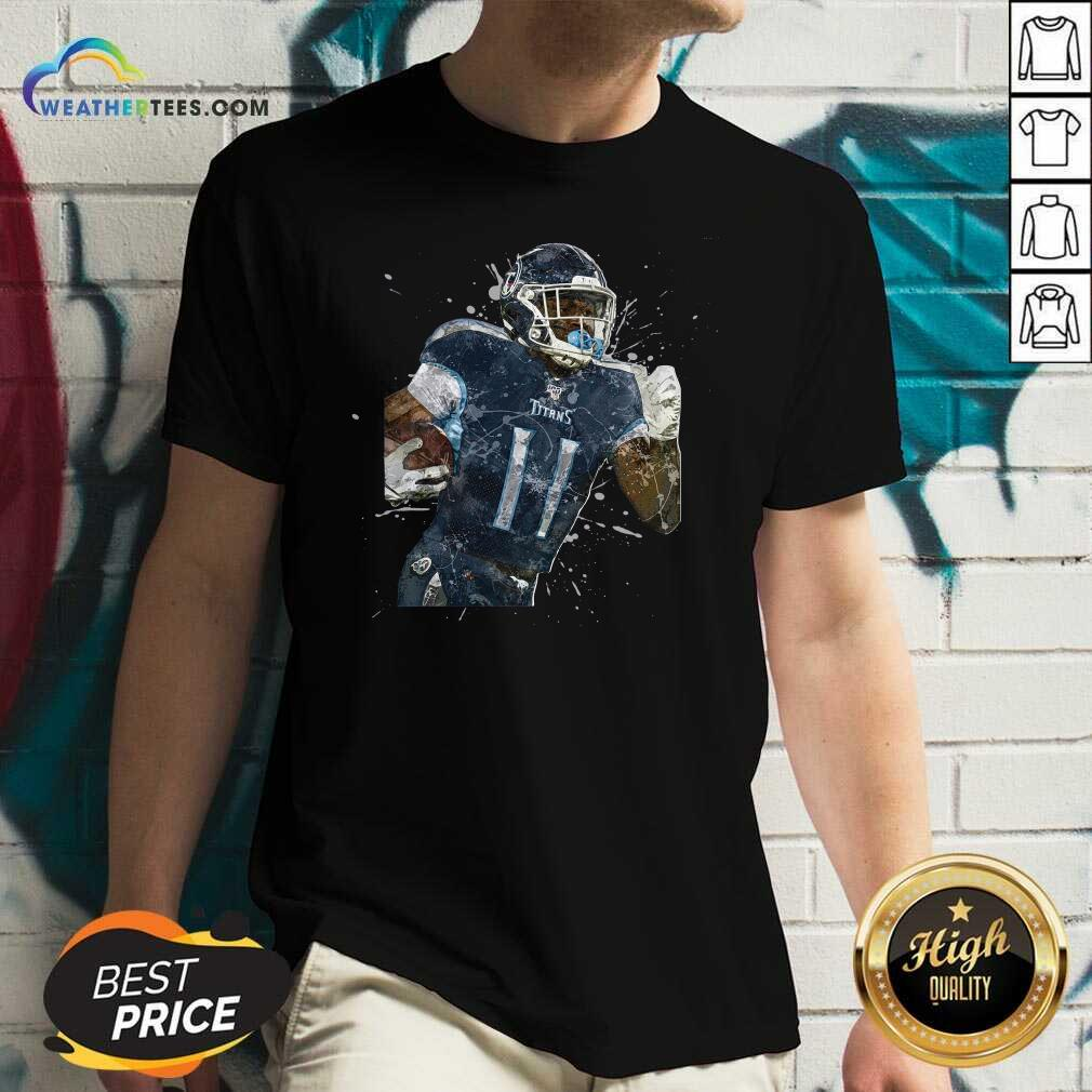 Tennessee Titans Football Player 11 NFL Playoffs V-neck - Design By Weathertees.com