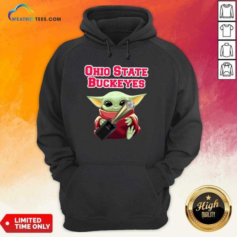 Baby Yoda Ohio State Buckeyes Hoodie - Design By Weathertees.com