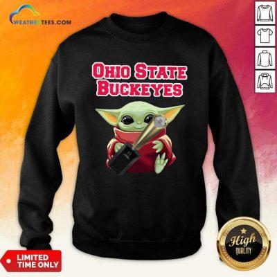 Baby Yoda Ohio State Buckeyes Sweatshirt - Design By Weathertees.com